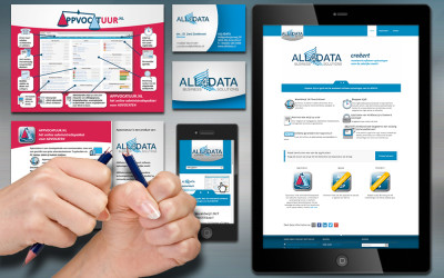 All4Data Huisstijl en website