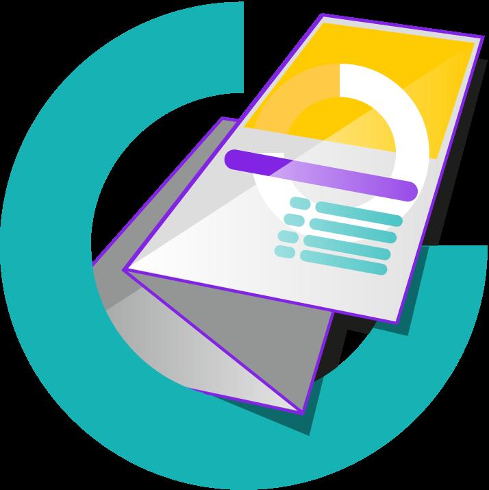 flyer of folder ontwerp