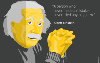 5 Motiverende quotes voor ondernemers onder andere van Albert Einstein