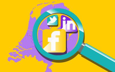 Wie bevindt zich waar op social media in Nederland?