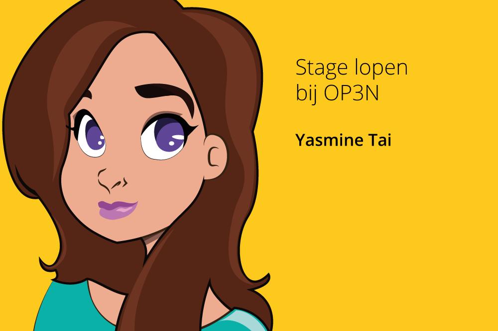 Stage lopen bij OP3N Yasmine Tai